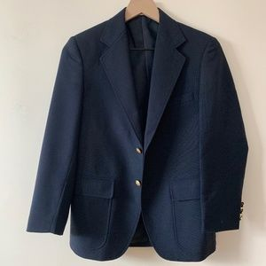 Vintage navy blue blazer with gold buttons